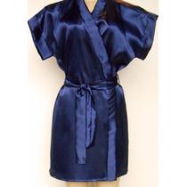 Robe Em Cetim Manga Japonesa Estampados E Lisos - Promoção