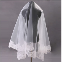 Veu De Noiva Grinalda Mantilha Casamento Renda1,5 Metros