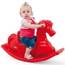 Novo Brinquedo Para Playground Gangorra Cavalinho Vermelho