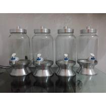 Suqueira De Vidro Com Base De Aluminio