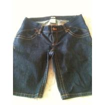 Bermuda Jeans Gestante Old Navy Elástico Laterais Cintura