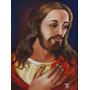 Pintura Jesus Cristo - Arte Sacra Óleo Sobre Tela 40x30