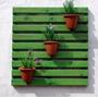 Painel De Madeira Para Jardim Vertical - Réguas Verdes