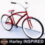 Bicicleta Nova Beach Bike Caiçara Aro 26 Harley Retro