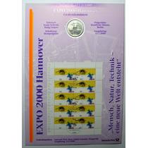 Folha Numismática Alemanha Comemorativa 10 Marcos De 2000