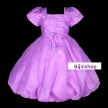 Vestido Infantil Festa/daminha Balonê 6,8,10 Varias Cores