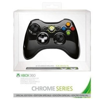 Controle Xbox 360 Wireless Chrome Series Preto Orig
