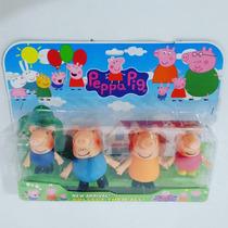 Personagens Peppa Pig Família Cartelado + Frete Grátis
