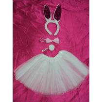 Fantasia Infantil Coelha Branca E Rosa Pink Pronta Entrega