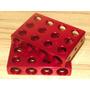 Pedaleira Quadrada De Alumínio - Vermelho - Peças Para Kart