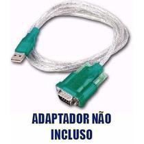 Cabo Adaptador Conversor Usb Serial Rs232 + Adaptador Db9