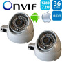 Kit 2 Câmera Dome Externa Ip 1.3mp Hd 720p Onvif (intelbras)