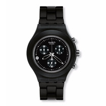 Relógio Swatch Full Blooded Smoky Black Svcf4000ag