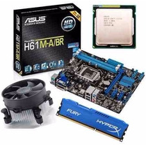 Kit Asus H61 M-a/br Hdmi + Core I5 3470 3.6 Ghz + 8gb Hyperx