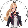 Relógio De Parede Em Disco De Vinil, Barbie