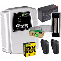 Kit Fechadura Trava Magnética Eletroimã Completo - Ipec