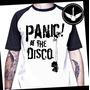 Camiseta Raglan Panic At The Disco Ou Baby Look Banda Rock