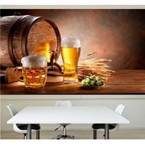 Adesivo Papel De Parede Cerveja Barril Churrasqueira Bar M14