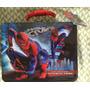 Maleta Lata Lancheira Metálica Lunch Box Homem Aranha Spider