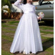 Vestido Infantil Longo Festa Casamento Dama Noivinha Florist