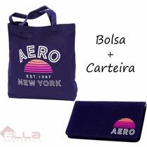 Kit Bolsa E Carteira Aeropostale Original Pronta Entrega