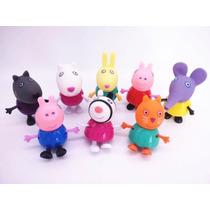 Coleção Figure Peppa Pig Com 8 Bonecos *pronta Entrega*