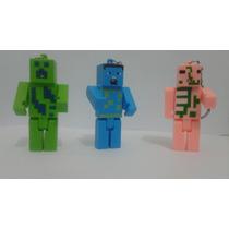 Lote 25 Chaveiros Do Personagens Minecraft - Cores Variados