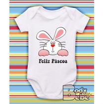 Body De Pascoa Coelho Happy Easter Ovo Egg Chocolate Bigodes