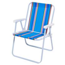 Cadeira De Praia Alta Aço Mor - Piscina Camping Lazer