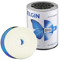 100 Dvd-r Elgin 16x Printable