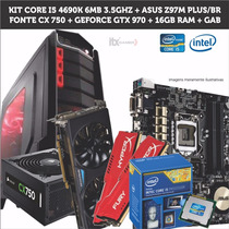 Kit Intel Core I5 4690k - Asus Z97m Plus/br - 16gb - Cx750