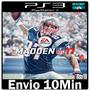 Madden Nfl 17 2017 Ps3 Psn Play3 Futebol Americano