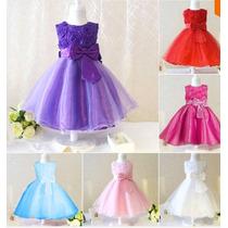 Vestido Infantil Festa Princesa,aniversário, Daminha, Flores