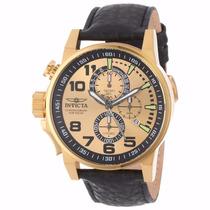 Relógio Invicta I-force 14475 Dourado Couro Preto Masculino