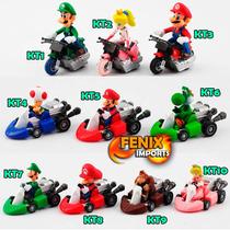 Boneco Super Mario Bros Miniatura Mario Luigi Naruto Karts