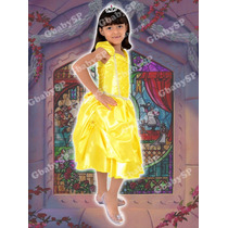 Fantasia Princesa Bela Infantil - Bela E A Fera Modelo Luxo