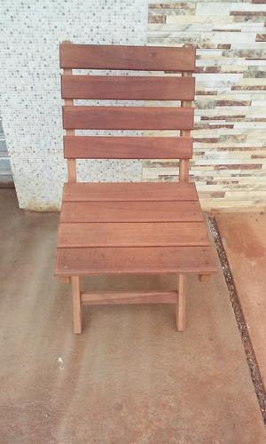 Cadeira De Madeira Maciça Casa E Jardim