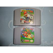 Lote De Fitas Mario Kart 64 E Super Mario 64