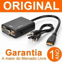 Cabo Conversor Hdmi Vga Pc Ps3 Tv Xbox