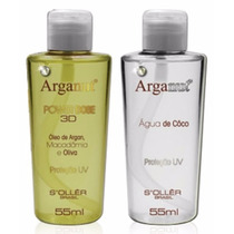 Reparador Arganut Kit Power Dose 3d Arganut 2x55ml Soller