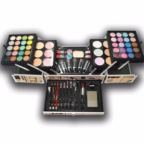 Kit Maleta De Maquiagem Completa Com 77 Itens Profissional