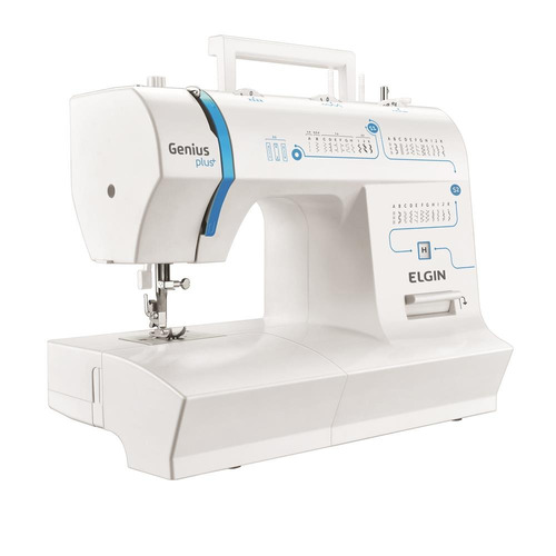 Maquina Costura Elgin Jx - 4035 Genius Plus Branca / Azul 110v