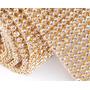 Manta Dourada Strass Termocolante - 10x45cm - Chinelos