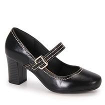 Sapato Boneca Salto Feminino Cesaretti - Preto