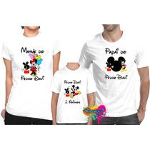e16eab74b6 Kit 3 Pçs Camiseta - Camisa P  Festa Personalizada Mickey A3 à venda ...