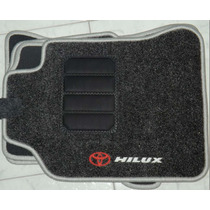 Jogo Tapete Carpete Base Borracha Toyota Hillux