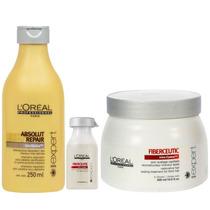 Loreal Professional Kit Fiberceutic - Sh+1 Ampola+ Mask.