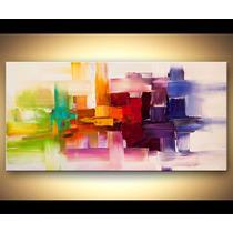 Quadro Abstrato Cod 2001 180m (l) X 90cm (a)-tela Enrolada