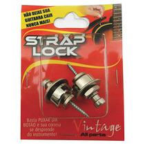 Strap Lock Prata Trava De Correia Guitarra/violão Etc Basso