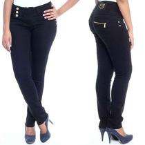 Sawary Jeans Calça Levanta Bumbum Cintura Média Skinny Color